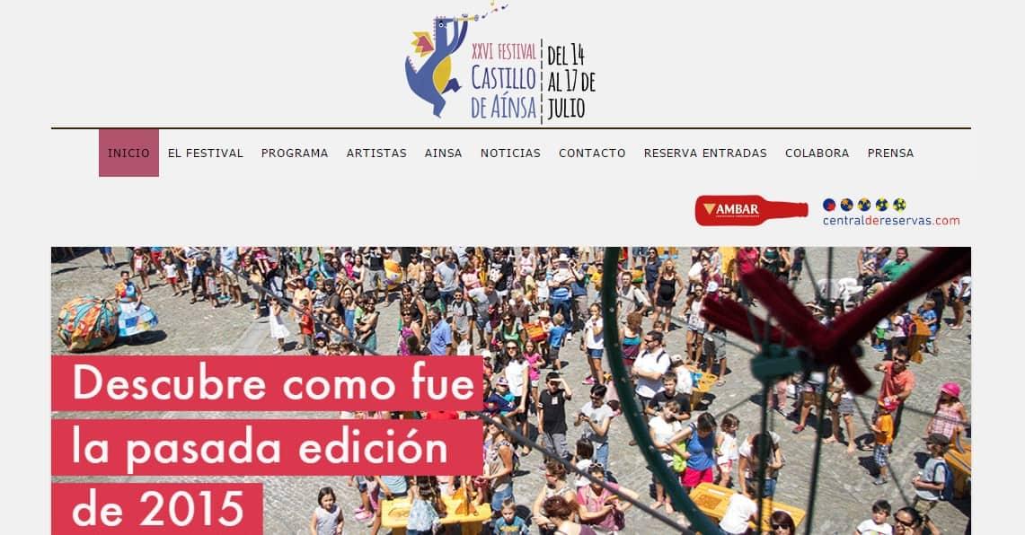 Actualización de la Web del Festival Castillo de Ainsa