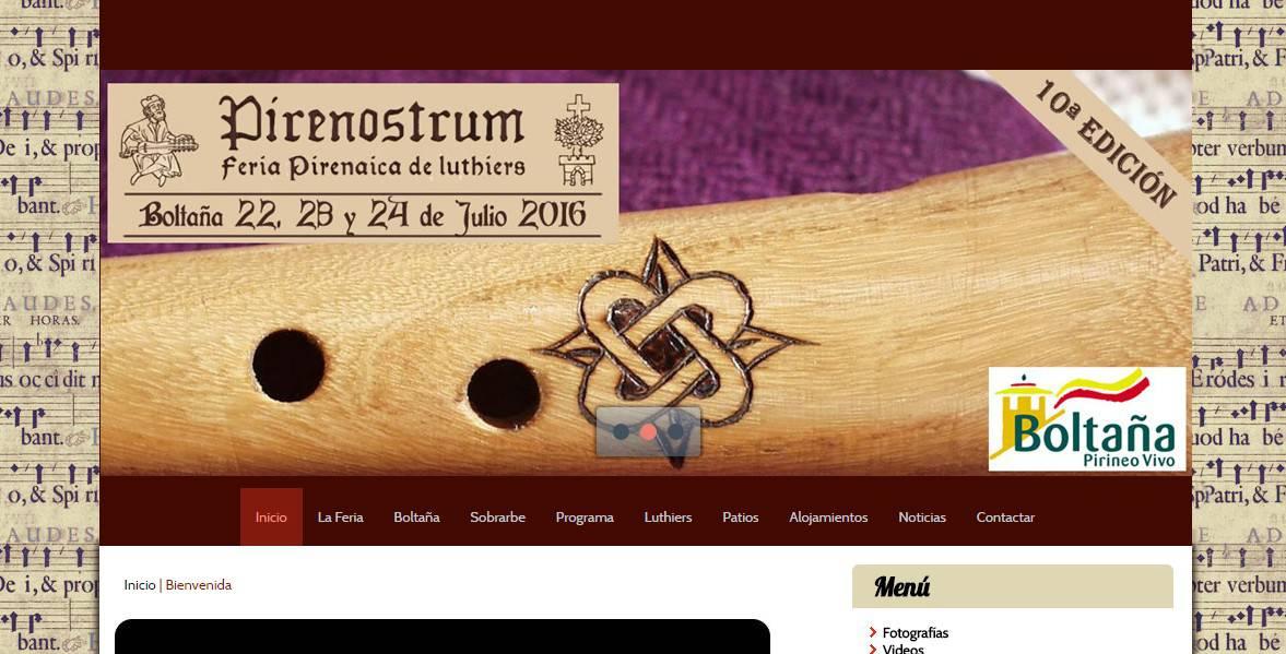 Feria Pirenaica de Luthiers – Pirenostrum 2016 Mejoras Web
